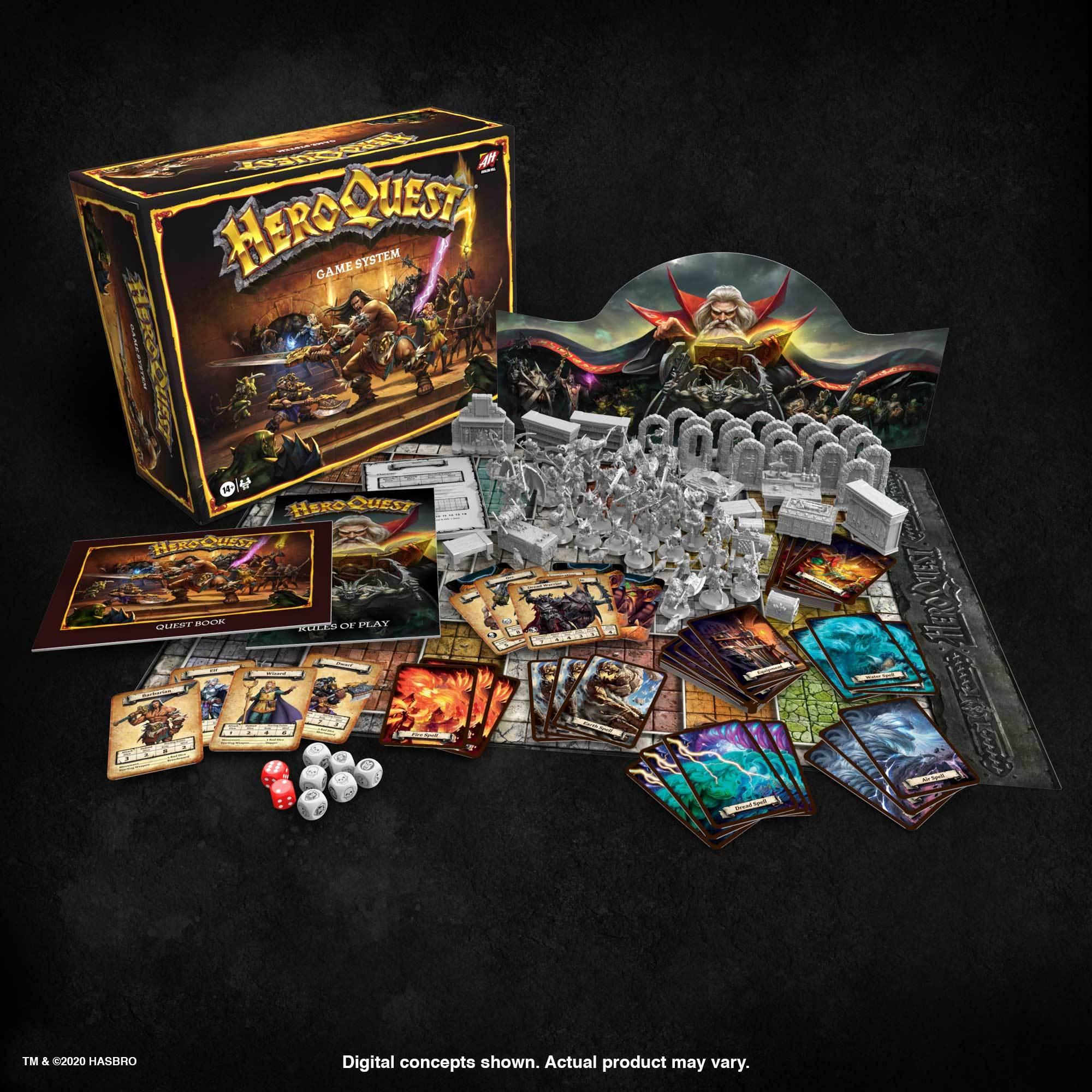 HeroQuest 2020 Included Products