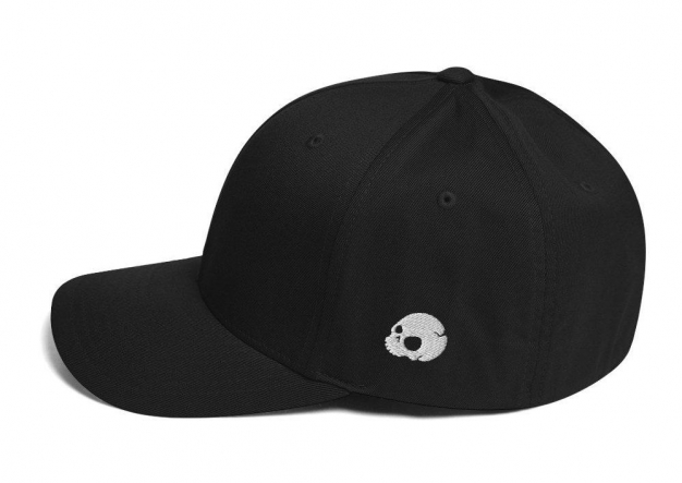 Crypt Skull - Left Side Black Ballcap